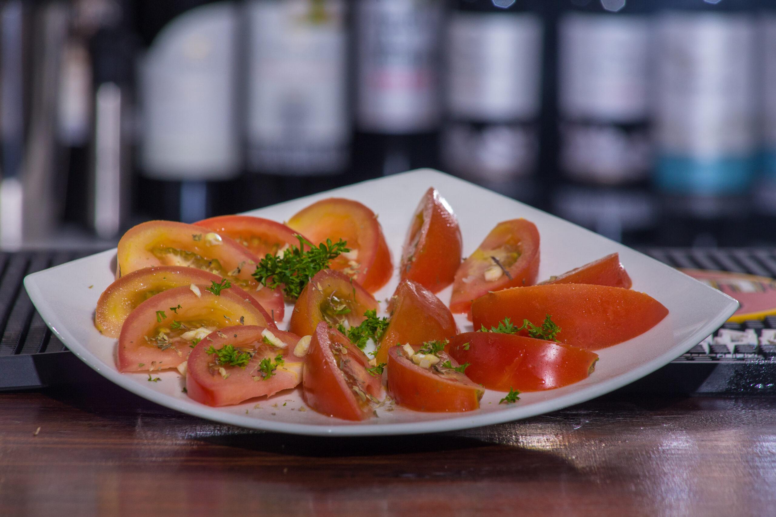 De tomate con ajo