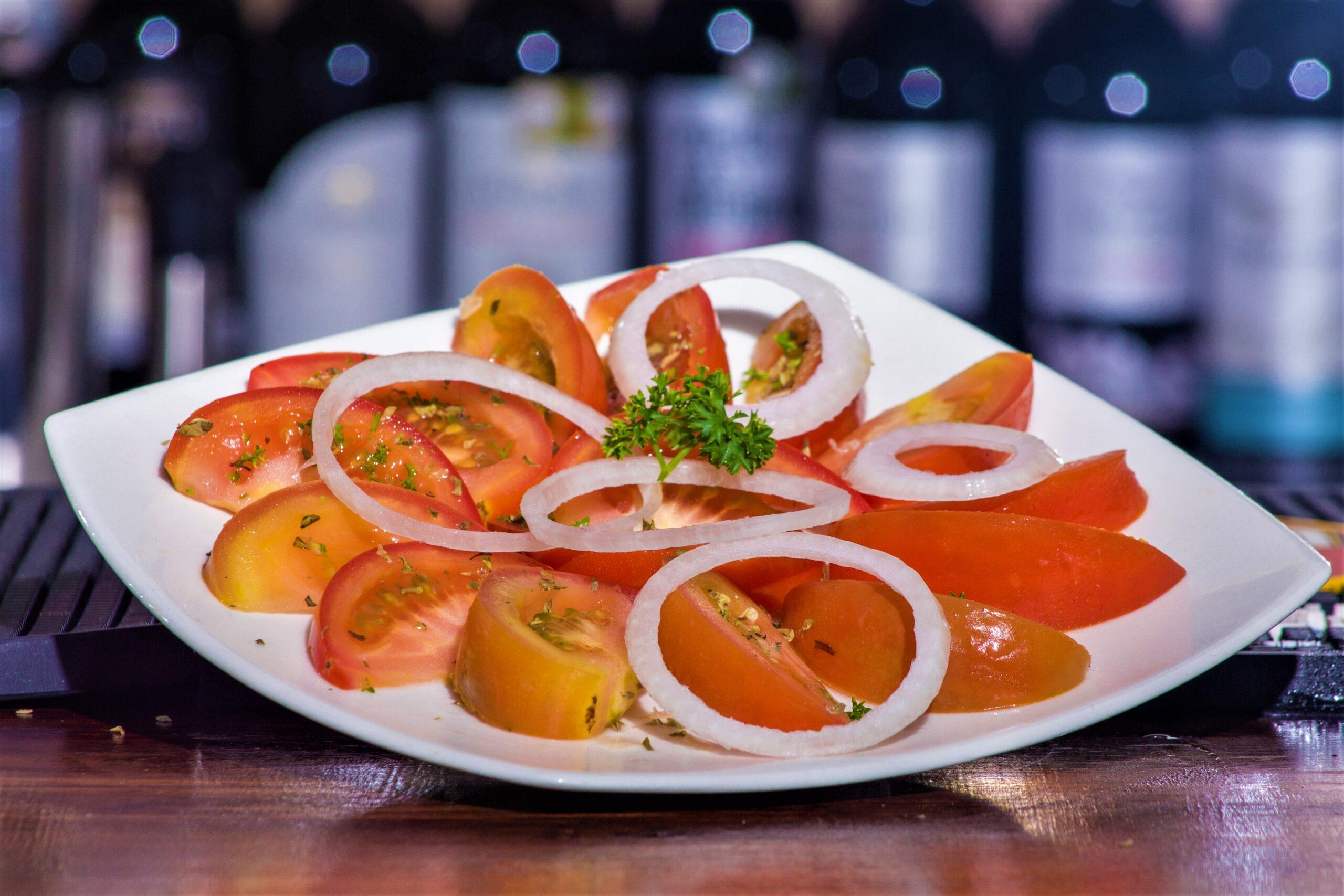 Beef De tomate y cebolla