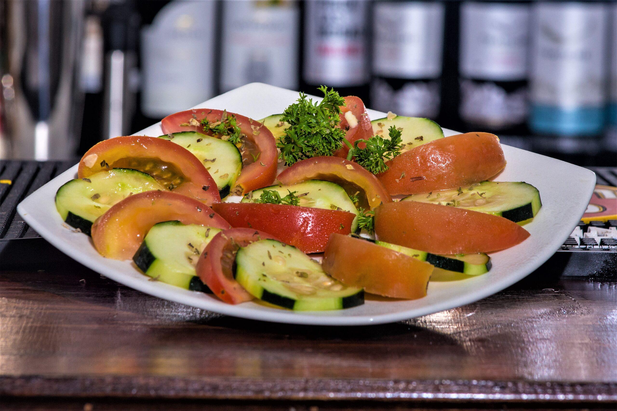 De tomate con pepino
